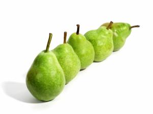 Eine Reihe von Birnen